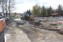 Výstavba parkoviště na Výstavišti v Písku.