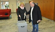 Prezidentské volby v okrsku č. 17 v Písku.