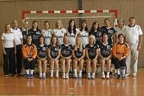 Interligové družstvo házenkářek Casty Sokola Písek (na snímku) bude hrát zápasy Challenge Cupu v domácí obloukové hale.