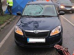 Smrtelná nehoda v Nádražní ulici v Milevsku.