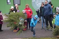 Hod vánočním stromkem v Čížové