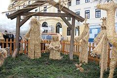 Písecké betlémy: slaměný, dřevěný, kovový a chlebový.