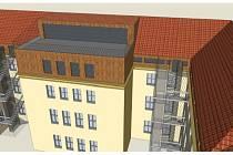 Vizualizace finální podoby půdní vestavby písecké obchodní akademie.