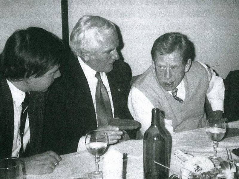 Václav Havel v Písku.