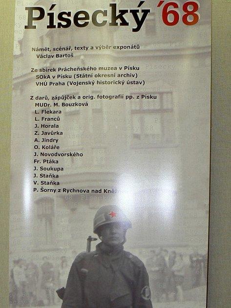 Písecký ´68. Výstava v Prácheňském muzeu v Písku.