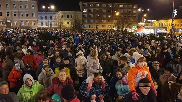 Rozsvícení vánoční výzdoby v Milevsku.