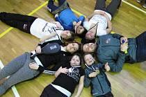 Sedm statečných bojovníků protivínského taekwondového oddílu.