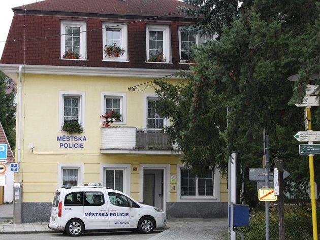 Služebna Městské policie Milevsko.