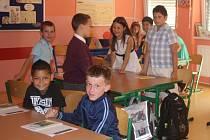 První školní den v ZŠ T. Šobra Písek.