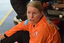 Písecká brankářka Jitka Skálová se velmi dobrým výkonem podílela na výhře svého týmu v interligovém zápase házenkářek s pražskou Slavií.