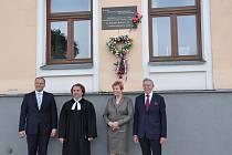 Vzpomínkové shromáždění na Miladu Horákovou v Písku.