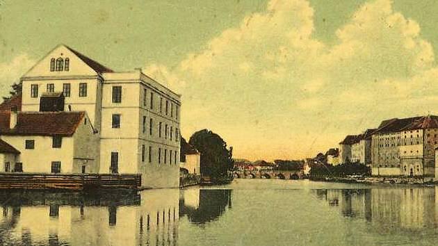 Drátovský mlýn stával u jezu naproti Elektrárně královského města Písku.