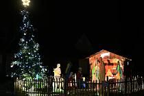 Vánoční strom v Klukách.