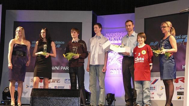 Snímek je z vyhlášení výsledků ankety Sportovec Písecka 2011 - kategorie Sportovní kolektiv.