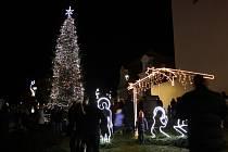 Vánoční strom v Protivíně.