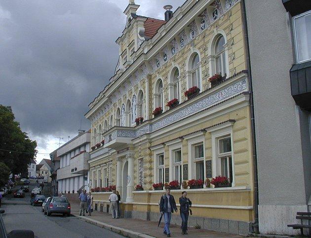 Milevsko - radnice. Ilustrační foto