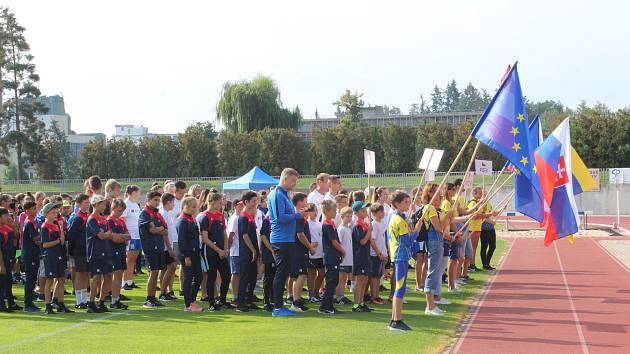 Sportovní hry partnerských měst v Písku.