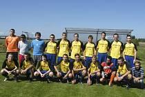 Fotbalisté TJ Borovany (na snímku) vybojovali v sobotním zápase okresního přeboru ve Skalách jeden bod za remízu 2:2.