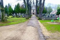 Vimperský hřbitov.