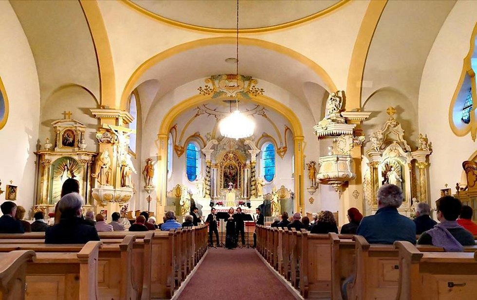 Klarinetový soubor Prachatice na německých koncertech.
