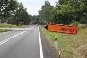 Objízdná trasa do Němčic vede přes Břehov.