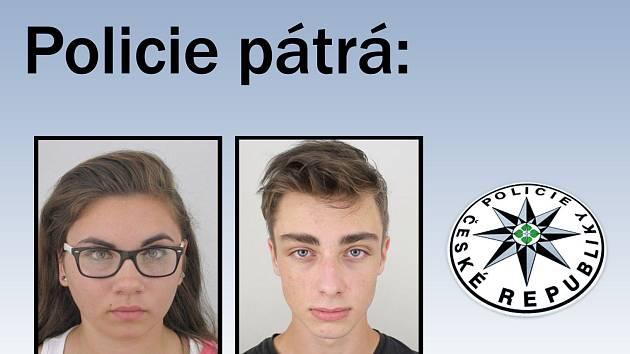 Policie pátrá po Tereze Procházkové z Českých Budějovic a po Janu Seifrtovi z obce Mahouš.