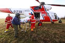 Z činnosti Letecké záchranné služby. Ilustrační foto