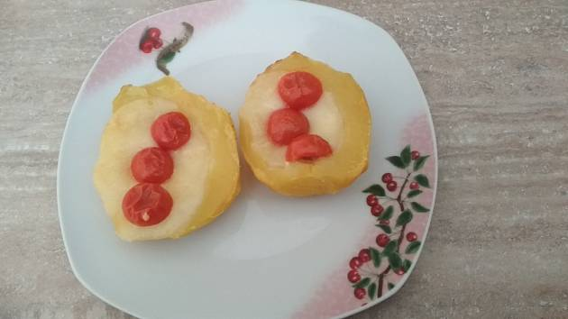 Zdravé zapečené brambory.