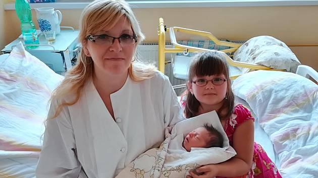 VERONIKA KOVÁŘOVÁ, MLYNAŘOVICE.Narodila se v pondělí 15. července v 6 hodin a 53 minutv prachatické porodnici. Vážila 3110 gramů.Má sestřičku Lucinku (5 let). Rodiče: Lucie Vyskočilová a Vladan Kovář.