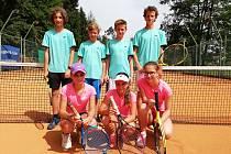 Starší žáci TK Prachatice skončili v KP II na čtvrtém místě.
