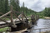 Hradlový most u Modravy.