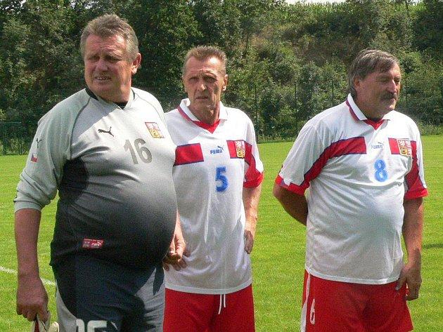 Zlevba Zdeněk Hruška, Jan Berger a Antonín Panenka.