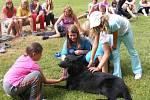 Policisté se psem navštívili tábory.