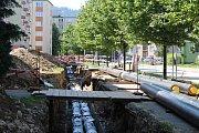 Opravy ve Slámově ulici by měly být hotovy do konce srpna. Od 21. srpna nepoteče lidem v okolí týden teplá voda.