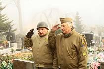 Uctění památky válečných veteránů v Prachaticích.