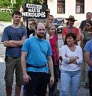 Potřetí demonstrovali Volarští na náměstí.