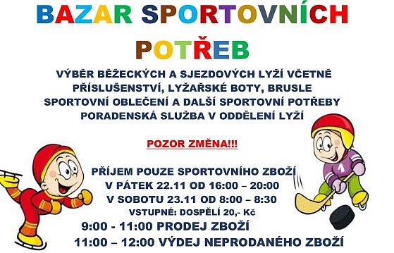 Zimní bazar sportovních potřeb