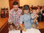 Šimon Korous s rodinou.