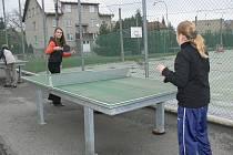 Děti si vyzkošely také stolní tenis.