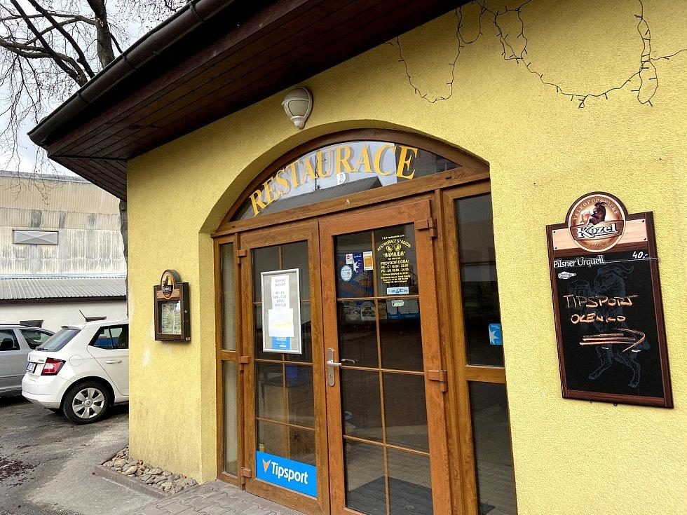 Restaurace Hamajda u vimperského zimního stadionu.