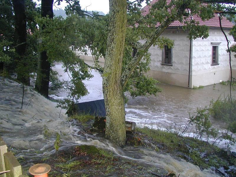 Povodně 2002 - Prachaticko - Kratochvíle.