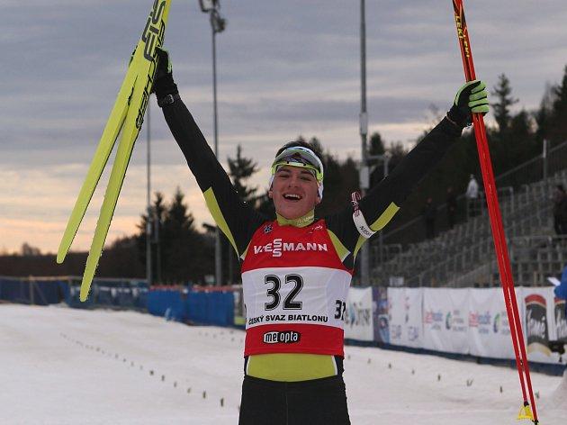 Biatlonový mistr České republiky Ondřej Mánek ze Zahoříčka u Čkyně. Foto poskytl: Jiří Mánek