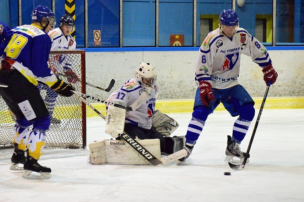 Vimperští hokejisté narazí ve čtvrtfinále play off na Veselí nad Lužnicí.