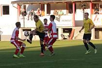 Fotbalová A třída: Lhenice - Olešnice 1:3.