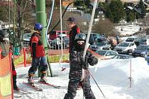 Kvilda je jedním z mála míst, kde se dá v těchto dnech dobře lyžovat.