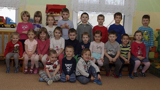 Zelená třída vMateřské škole Prachatice vZahradní ulici.