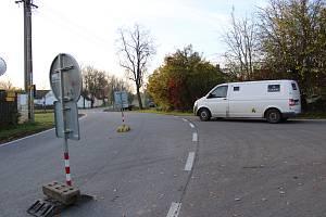 Objízdná trasa z Němčic do Čejkovic.