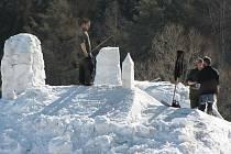 Sněhové objekty dostávají konkrétnější podobu.