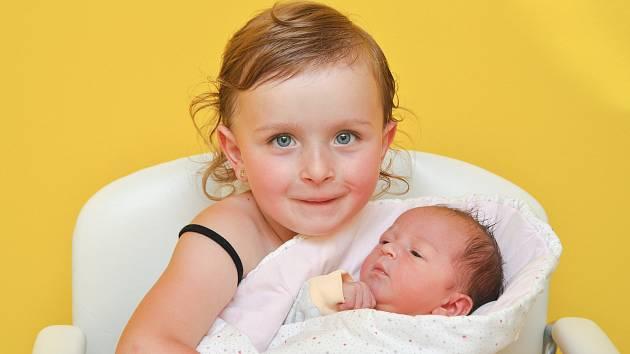 SOFIE CAROLINE ŠNAJDROVÁ, KŘIŠŤANOV.  Narodila se v úterý 11. června v 9 hodin a 52 minut ve strakonické porodnici. Vážila 3390 gramů. Na sestřičku se již doma těšila Viktorie Anna (4).
