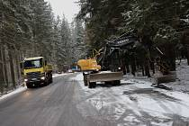 Rekonstrukce silnice z Volar na Lenoru je hotová. Semafory zmizely. Foto: Ladislav Beran